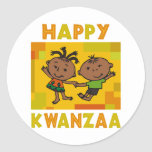 Happy Kwanzaa Classic Round Sticker