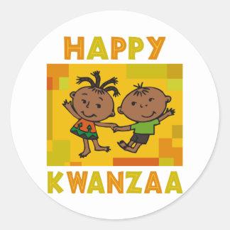 Happy Kwanzaa Classic Round Sticker