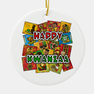 Happy Kwanzaa Collage Christmas Ornament
