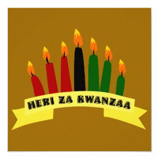 Happy Kwanzaa Flat Greeting Card