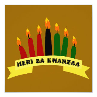 Happy Kwanzaa Flat Greeting Card Personalized Invitations
