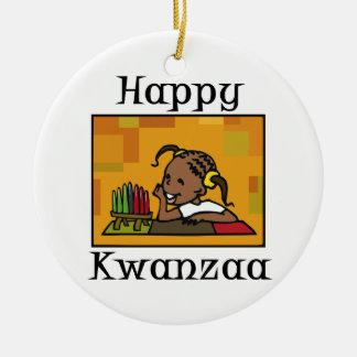Happy Kwanzaa Girl Kinara Ornament
