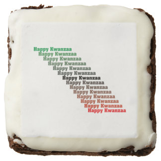 Happy Kwanzaa in Red Green Black Brownie