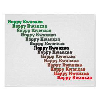 Happy Kwanzaa in Red Green Black Poster