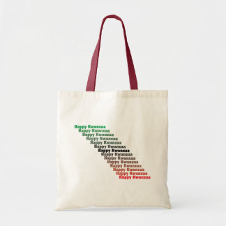Happy Kwanzaa in Red Green Black Tote Bag