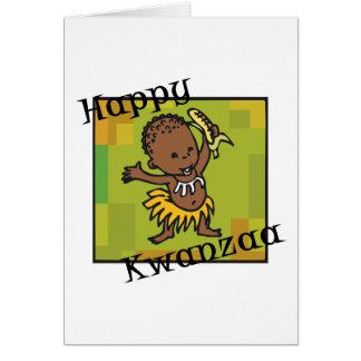 Happy Kwanzaa little Boy Card