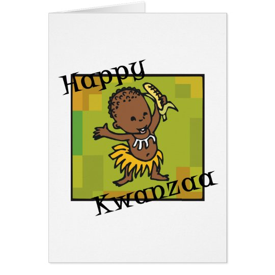 Happy Kwanzaa little Boy Card