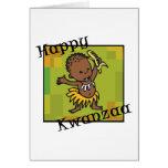 Happy Kwanzaa little Boy Greeting Cards