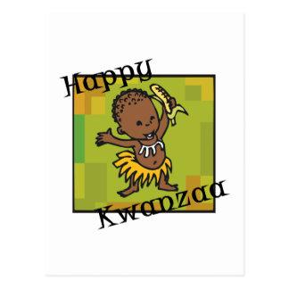 Happy Kwanzaa little Boy Postcard