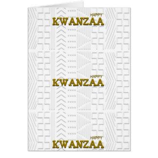 Happy Kwanzaa Mud Cloth design GOLD Card