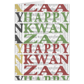 Happy Kwanzaa Mud Cloth design MULTI Card