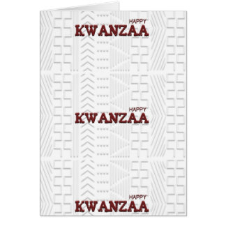 Happy Kwanzaa Mud Cloth design RED Card