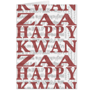 Happy Kwanzaa Mud Cloth design RED Greeting Cards