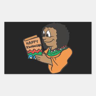 Happy Kwanzaa Rectangular Sticker