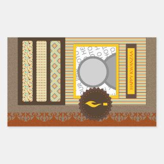 happy kwanzaa (scrapbook) rectangular sticker