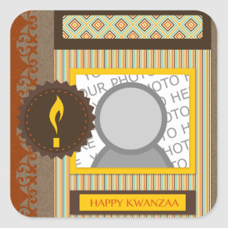 happy kwanzaa (scrapbook) square sticker