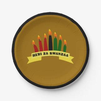 Happy Kwanzaa 7 Inch Paper Plate