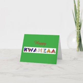 Happy Kwanzza Card by Alicia L. McDaniel