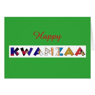 Happy Kwanzza Card by Alicia L. McDaniel
