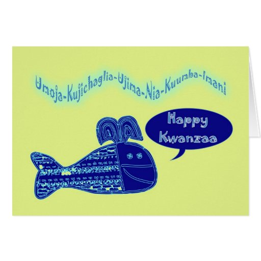 Happy Kwazza Blessings African-American Africa Card