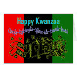 Happy Kwazza Blessings African-American Africa Greeting Card