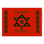 Happy Kwazza Blessings African-American Africa Greeting Cards