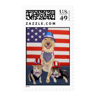 Happy Lab USA Stamp