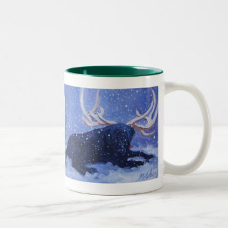 Happy Labby Holidays! Two-Tone Coffee Mug