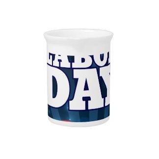Happy Labor Day Design Drink Pitcher