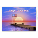 Happy Labor Day Dock Greeting Cards