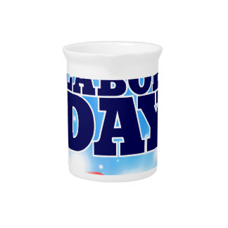 Happy Labor Day Drink Pitcher