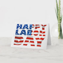 Happy Labor Day Greeting Card or Party Invitation
