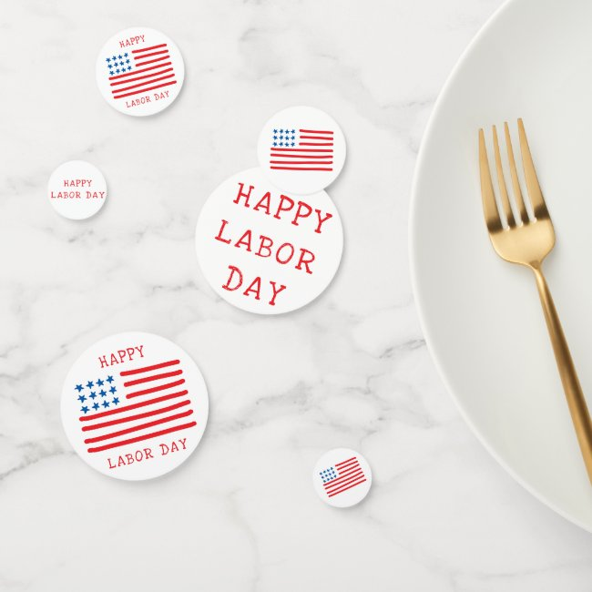 Happy Labor Day | Hand Drawn American Flag