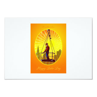 Happy Labor Day Our Fellow Workers Greeting Card 9 Cm X 13 Cm Invitation Card