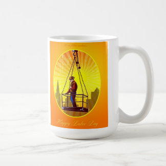Happy Labor Day Our Fellow Workers Greeting Card Basic White Mug