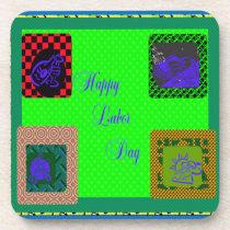 Happy Labor Day ~ Square Coasters