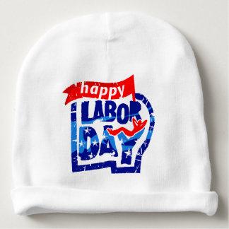 Happy Labor Day United States America USA Baby Beanie