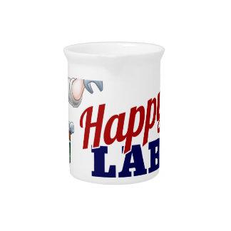 Happy Labor Day Worker Design Beverage Pitcher