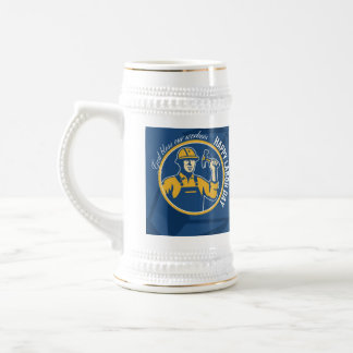 Happy Labor Day Worker Greeting Card Beer Steins