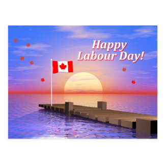 Happy Labour Day Canada Dock Postcard