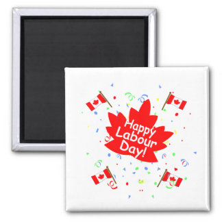 Happy Labour Day 2 Inch Square Magnet