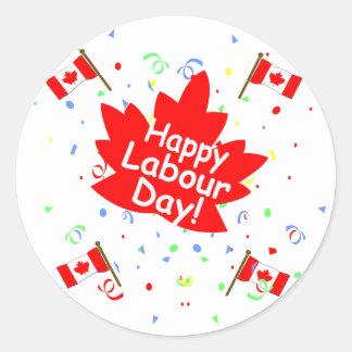 Happy Labour Day Round Sticker