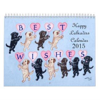 Happy Labradors Calendar 2015 New