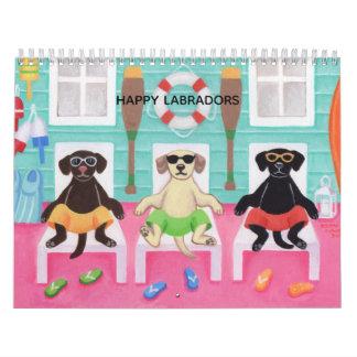 Happy Labradors Fun Life Calendar 2018