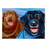 Happy Labs Greeting Cards