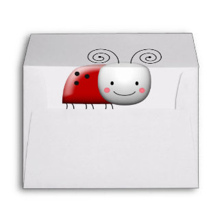 Happy Lady Bug Says Thanks Envelope