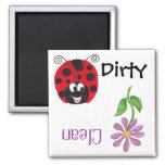 Happy Ladybug & Flower - Dishwash Magnet