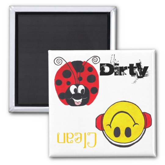 Happy Ladybug & Happy Face - Dishwash Magnet