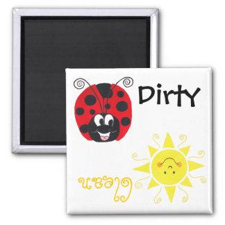 Happy Ladybug & Happy Sun - Dishwash Magnet