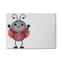 Happy Ladybug red black Post-it Notes